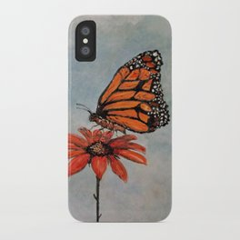 Majestic Monarch Butterfly iPhone Case