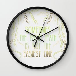 Grandmother Willow's Words Wall Clock