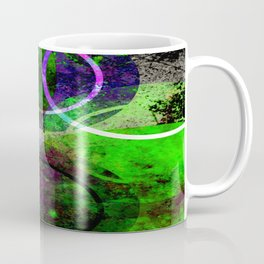 Other Dimensions - Abstract, geometric, textured, space themed artwork Coffee Mug