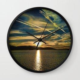 THE SUNDOWN SEA Wall Clock