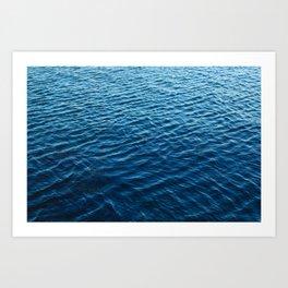 Blue Water Art Print