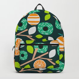 Oranges and flowers Backpack