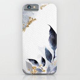 Shimmering Leafy Background Illustration iPhone Case
