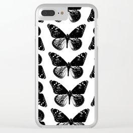 Pattern of butterflies Clear iPhone Case