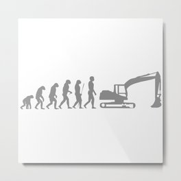 Evolution Bagger Metal Print