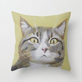 Cat Portrait #1 - Hattie Throw Pillow