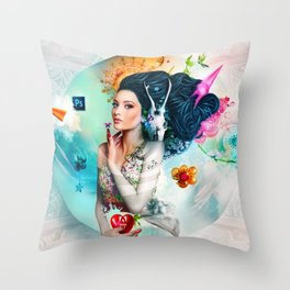 Garden of Eden Throw Pillow
