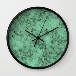 Marble . green marble pattern . Wall Clock