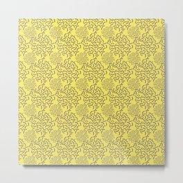 Neo Memphis Coordinate Yellow Purple Metal Print