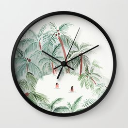 Night Swim Wall Clock