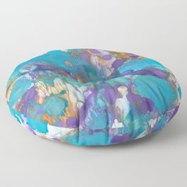 Blue Blossom Floor Pillow