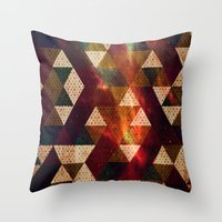 polygon Throw Pillows featuring Polygon by Tony Vazquez