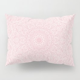 Most Detailed Mandala! Rose Gold Pink Color Intricate Detail Ethnic Mandalas Zentangle Maze Pattern Pillow Sham