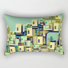 Mediterranean Coast Rectangular Pillow