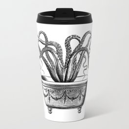 Tentacles in the Tub | Octopus | Black and White Travel Mug