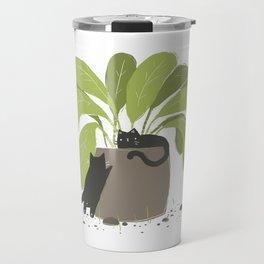 House Plant House Cats Travel Mug