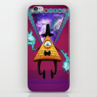 bill cipher iPhone & iPod Skins featuring Dream Demon - Bill Cipher by AtomicDNA