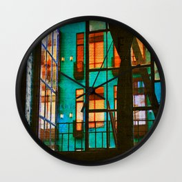 Outside My Window, Urban Art Wall Clock