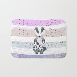 Pastel Color Tones Bea Badger by Bagaceous Bath Mat