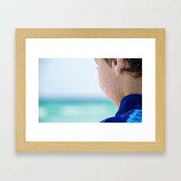 Summer Boy Framed Art Print