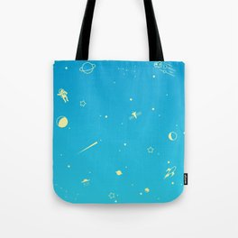 Outer Space Poster (Blue) Tote Bag