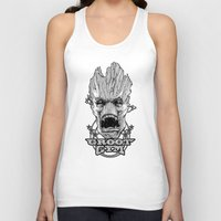 gym Tank Tops featuring GROOT GYM by ADAMLAWLESS