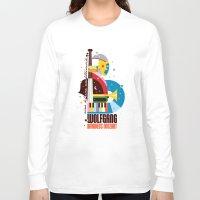mozart Long Sleeve T-shirts featuring Mozart by Szoki