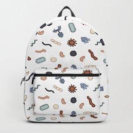 Vintage Microbiology - Black Outlines on White Backpack