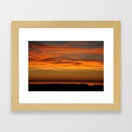 Pacific Ocean Sunset Framed Art Print