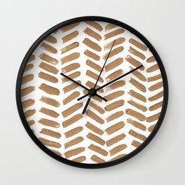Gold Chevron Wall Clock