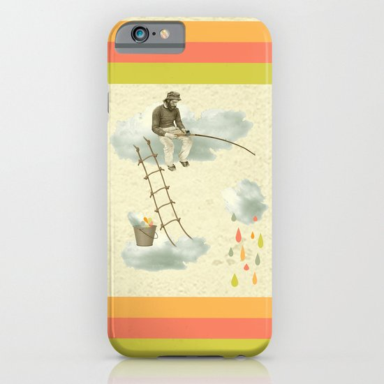 The fisherman who was cleaning the sky from the clouds iPhone & iPod Case
