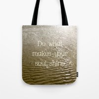 soul Tote Bags featuring Soul by Alice Gosling