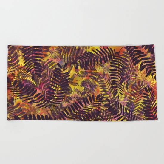 Tropical Abstract Beach Towel