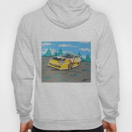 Yellow supra painting Hoody