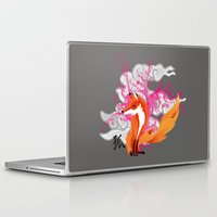 kitsune Laptop & iPad Skins featuring Kitsune by Mazuki Arts