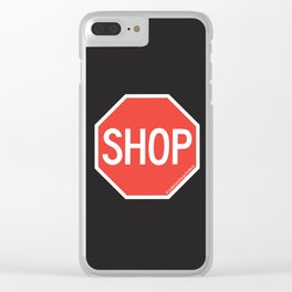 SHOP Traffic Sign Clear iPhone Case