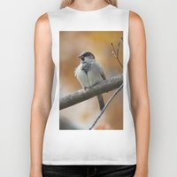 sparrow Biker Tanks featuring Sparrow by Tammi Hofstetter