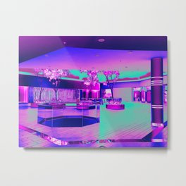 Retro Retail Realm Metal Print