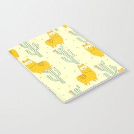 Alpaca summer pattern Notebook