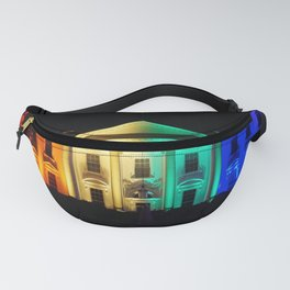 The White House in Rainbow Colors Fanny Pack