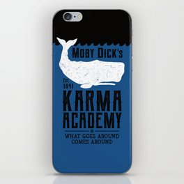 The Moby Dick Academy of Karma iPhone Skin