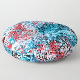 Demonic Toy Poodle Abstract Floor Pillow