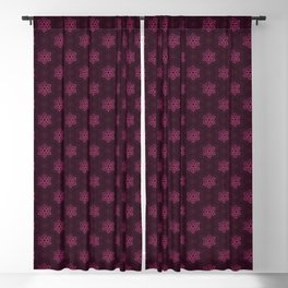 Festive Pink Snowflake Pattern Blackout Curtain