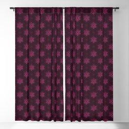 Festive Pink Snowflake Pattern Blackout Curtain