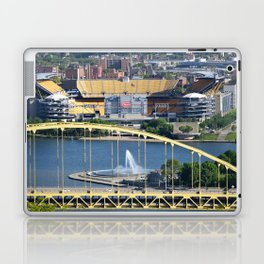 Heinz Field, Fort Pitt bridge and The Point in Pittsburgh Laptop & iPad Skin