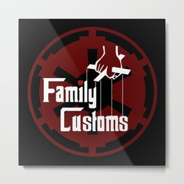 Family Customs Imperial Crest Metal Print