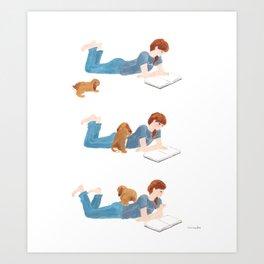 Masseur Art Print