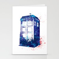 tardis Stationery Cards featuring Tardis by lauramaahs