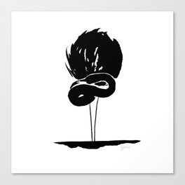 Black&white graphic - flamingo Canvas Print