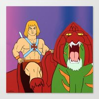 he man Canvas Prints featuring He-Man by Dano77